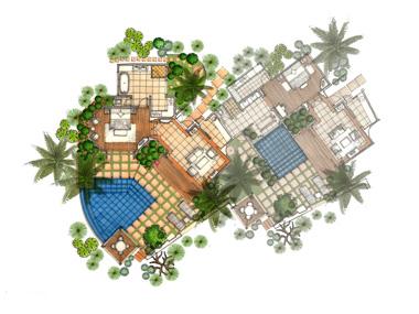 Villas beau rivage 5 luxe ile maurice cote est for Plan de villa de luxe