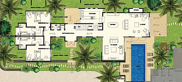 Plan maison de luxe for Plans de villa